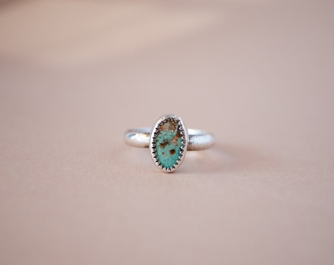 Size 5.5 Ring - Turquoise Ring - Sterling Silver Ring - Silver and Turquoise Ring