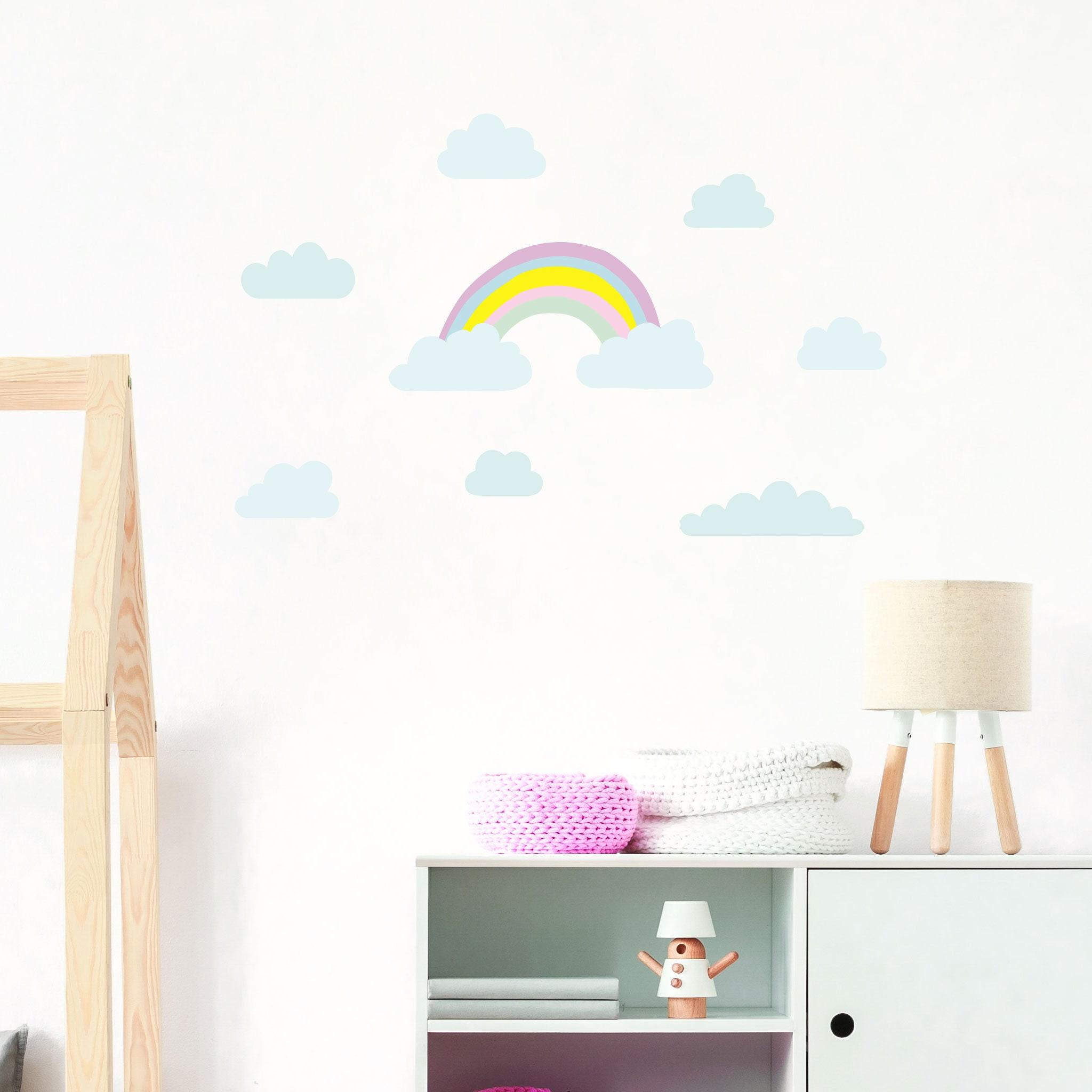 Regenbogen Sonne Stern Kindergarten Wand dekor Wandsticker WANDTATTOO Art 951