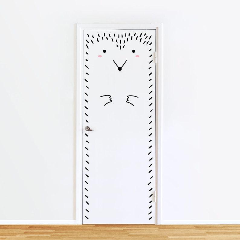 windows or closets  Nursery decor  Animal Vinyl Sticker Paco the Polite Porcupine Door decal  Hedgehog Wall decal for doors