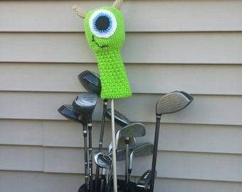 Mike Wazowski Golf Club Cover! Monster's Inc. Mike Wazowski handmade crocheted golf club cover!
