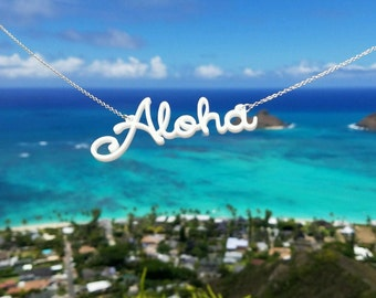 Aloha Necklace | Sterling Silver | Handmade