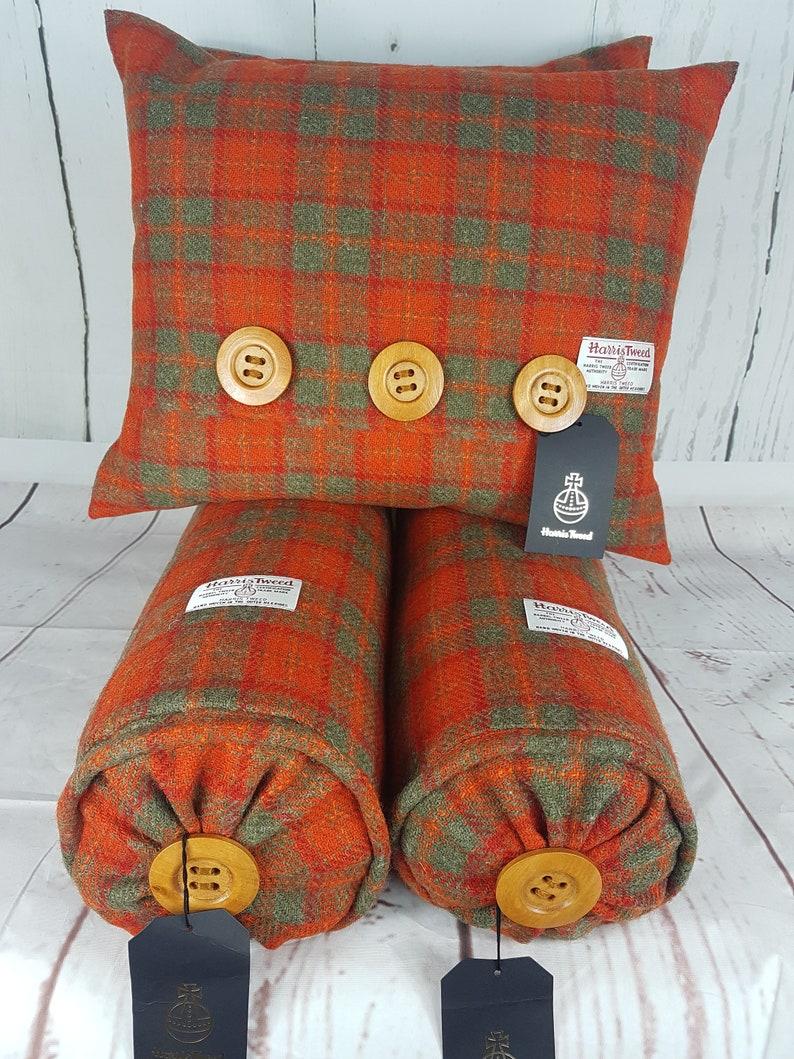 f5049e15b67c Harris Tweed Cushions Harris Tweed Bolsters Tartan Cushions