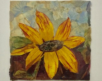 ONE-dried flower collage