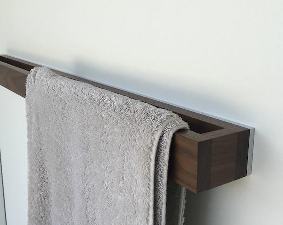 Bathroom Towel Rack - Walnut-White - Modern Towel Rack