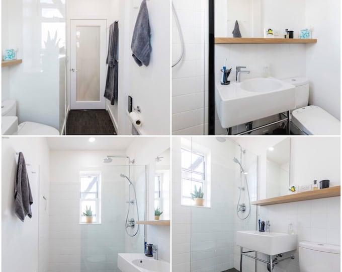 Featured listing image: Floating Shelf - white - Modern Shelves - Wall Shelf - Book Shelf - Wood Shelf
