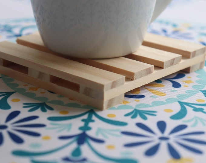 Featured listing image: Pallet Coasters - Drinking Coaster - 4 Coaster Set