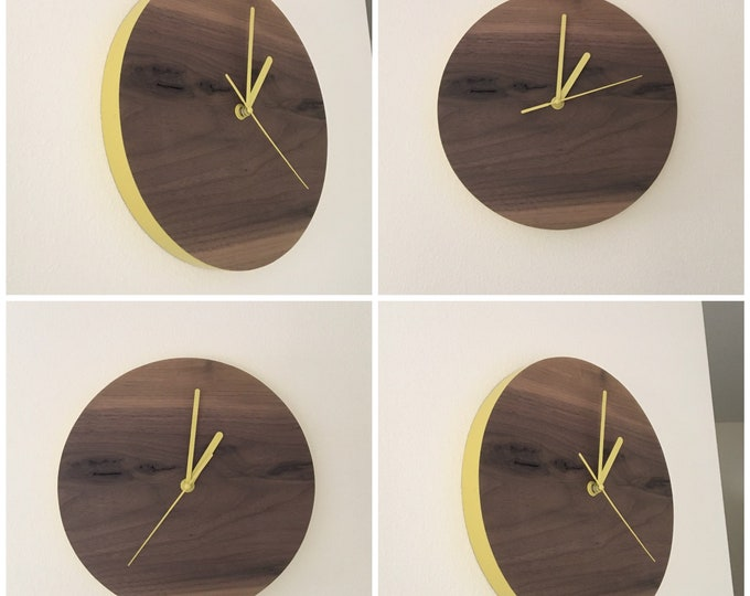 Featured listing image: Wooden Wall Clock - Modern Wall Clock - Wood Wall Clock  - Modern Clock - Modern Clock Gift - Modern Wall Decor