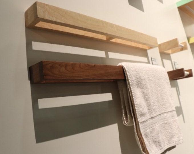 Featured listing image: Bathroom Towel holder - Toilet Paper Holder - Walnut - Bathroom Fixture set