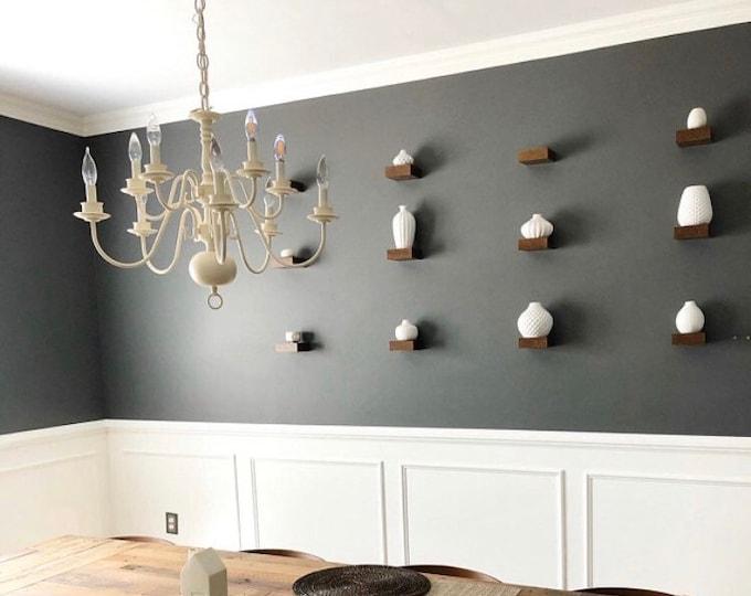 Featured listing image: Wall Shelf - Book Shelf - Floating shelves - walnut - Modern Shelves - Wood Shelf - Kitchen shelves - Storage Space - Wall Decor