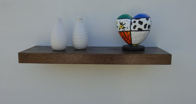 Floating Shelves Set Of 3 Mahogany Veneer Unstained Modern 1 Wall Shelf Book Wood