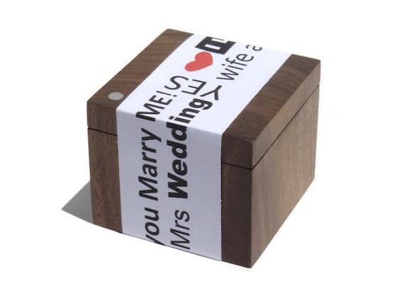 Ring Box -  engagement ring box, wedding ring box by DMS-DESIGN