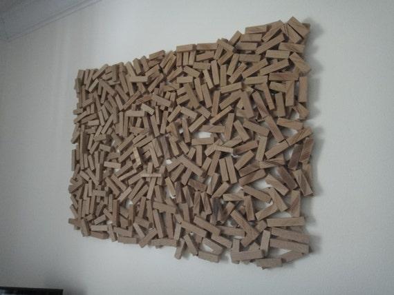 Abstract Wood Sculpture Wall Hanging Wood Wall Art | Etsy