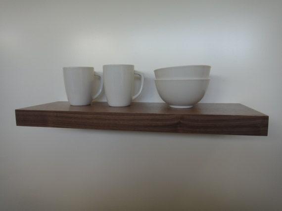 Floating shelves - Walnut - Modern Shelves - Wall Shelf - Book Shelf - Wood Shelf - set of 3