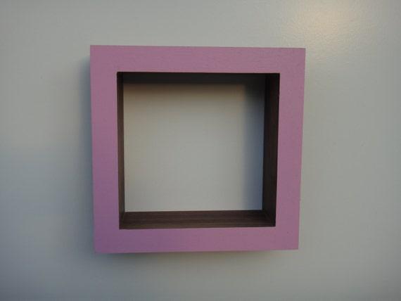 Shadow Box Frame - Wall shadow box - Oak or Walnut -Pink                               .