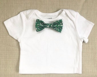 36e717bcd09b NEW Banana Leaf Bow Tie BodySuit w/ Snap-On Bowtie: 1 Bodysuit+1 Bowtie  ONLY! Aloha Baby Shower / Aloha Birthday Party / Tropical Bow