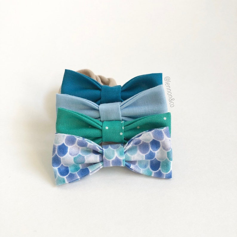 NEW Under the Sea MINI Girls Hair Bows  Set of 4 / Under the image 0