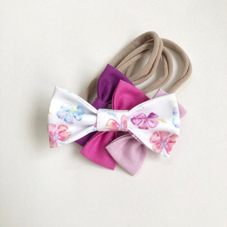 NEW Hibiscus Bow // Tropical Kids Bow Tie / Girl's Hair image 0