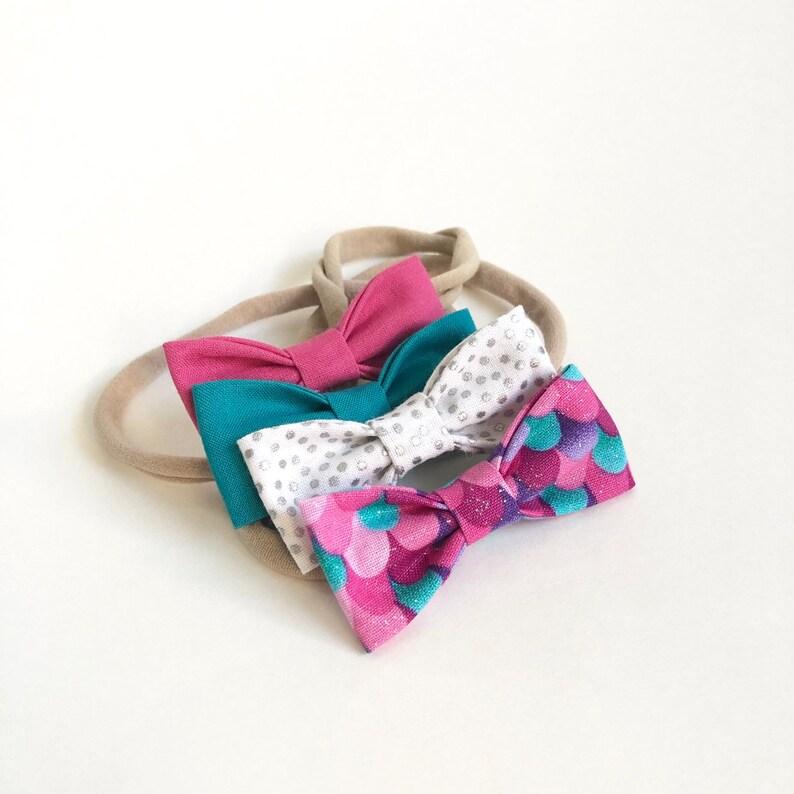 NEW Pink Trolls SMALL Girls Hair Bows  Set of 4 / Trolls image 0