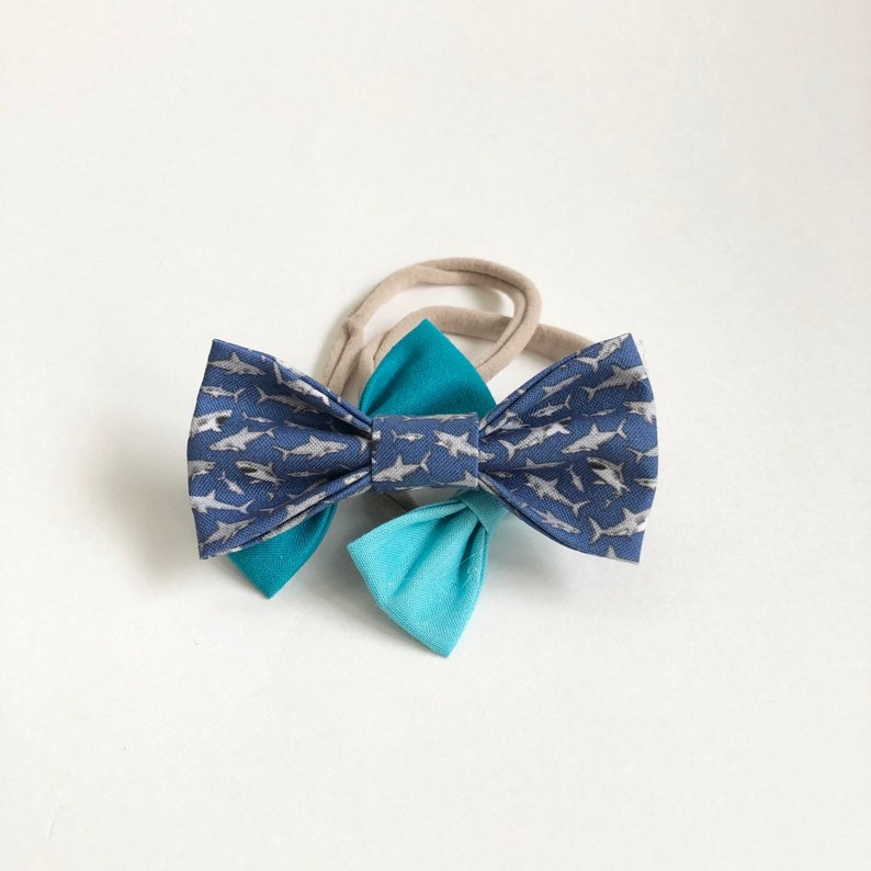NEW Hungry Shark Bow / Baby Shark Kids Bow / Girl's Hair image 0
