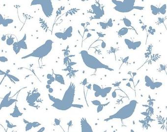 21 EUR/meter acufactum fabric Daniela Drescher bird summer, weaving cotton