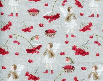 21 EUR/meter acufactum fabric Daniela Drescher Berry Time, weaving cotton