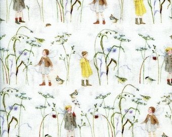 21 EUR/meter acufactum fabric Daniela Drescher elves in winter grass, weaving cotton