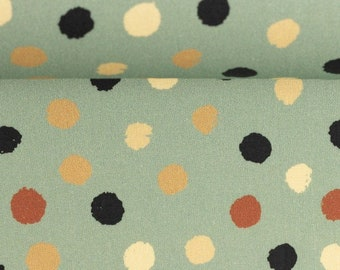 9,50 EUR/Meter Cotton Weaving Happy Harvest, Polka dots Mint 0,5 m by Swafing