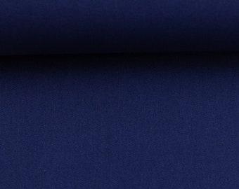 1,1 m ERESERVIERT for Ronald! 6,90 EUR/Meter cotton uni dark blue navy, Heide 596 by Swafing, Webware