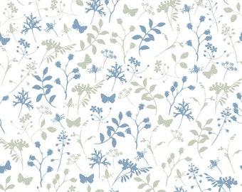 "21 EUR/Meter acufactum fabric Daniela Drescher ""Leaves and grasses"", woven cotton. Children's fabric"