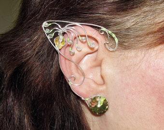 Woodsprite, Avatar inspired ear jewelry, Bejeweled ears for Neytiri costume, Pandora inspired jewelry, Na'vi cosplay, elf ears, fairy ears