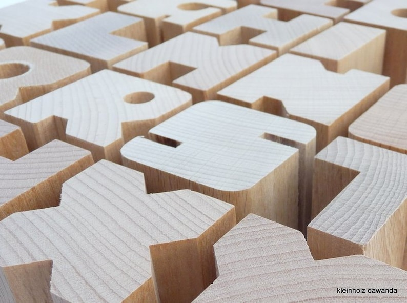 5 wooden letters of your choice image 0