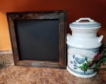 Small Chalkboard 13 x 13,  Menu board,  Rustic Home Decor, kitchen chalkboard, reclaimed wood ,  chalkboard sign,  wedding chalkboard sign.