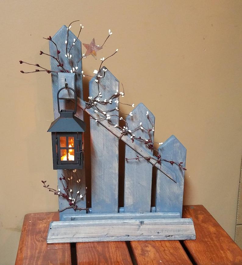 Rustic Home Decor Primitive Lantern Candle Holder