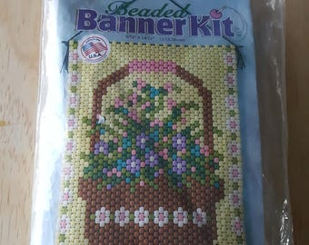 STAIN GLASS HOLY ANGEL BEADED BANNER PDF PATTERN ONLY