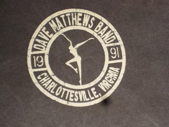 Vintage Dave Matthews Band 1991 Charlottesville VA Canvas Messenger Shoulder Bag