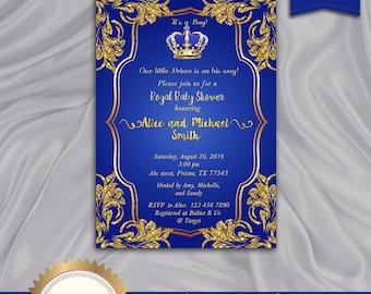 Prince baby shower invitation Etsy