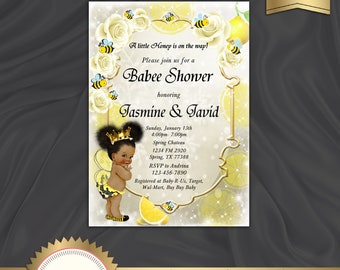 66b0dd1a6717 Printable Baby Shower Bee Invitation