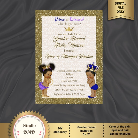 photograph relating to Printable Gender Reveal Invitations named Printable Gender Explain Invitation, Boy or girl Demonstrate Invitation, Prince or Princess, Boy Or Woman Invite, Blue, Red - Electronic Document, BSBG01