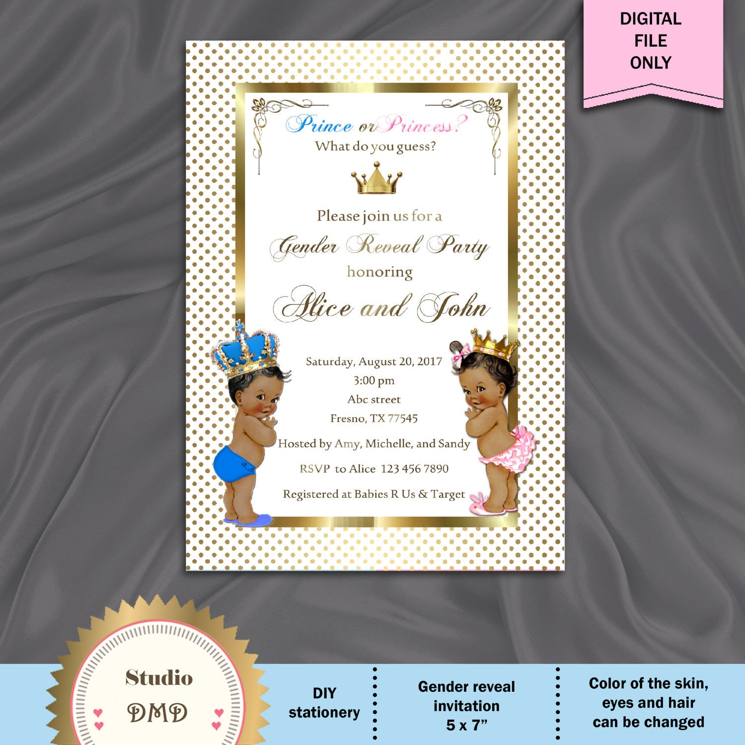 This is a picture of Luscious Printable Gender Reveal Invitations
