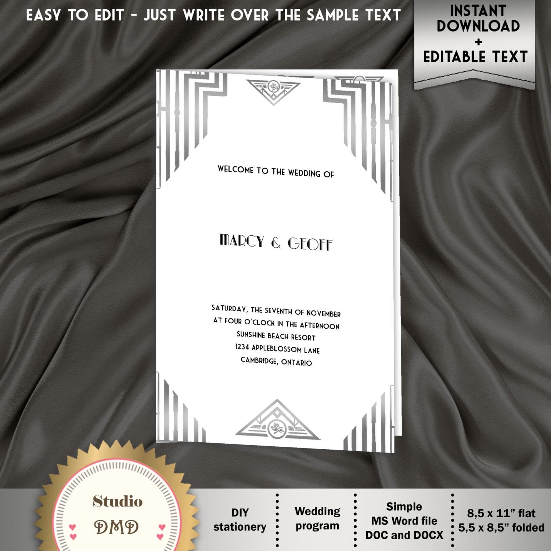Großartig Hochzeitsprogramme Vorlagen Wort Ideen - Beispiel ...