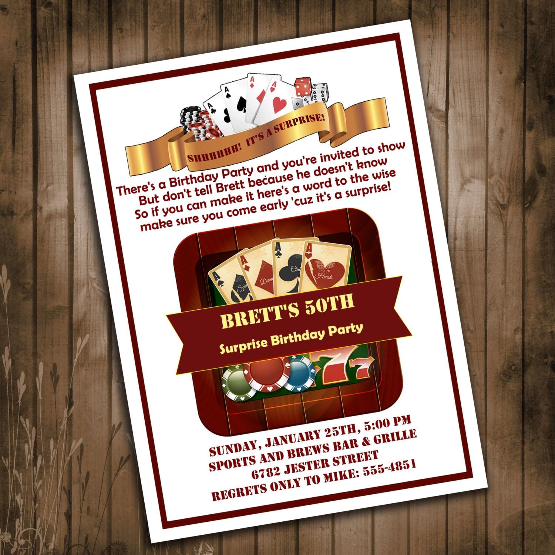 Casino Themed Invitations