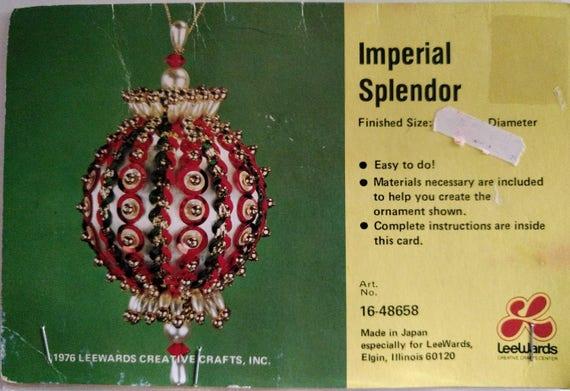 LeeWards IMPERIAL SPLENDOR Sequin Bead Christmas Ornament Kit Vintage NOS