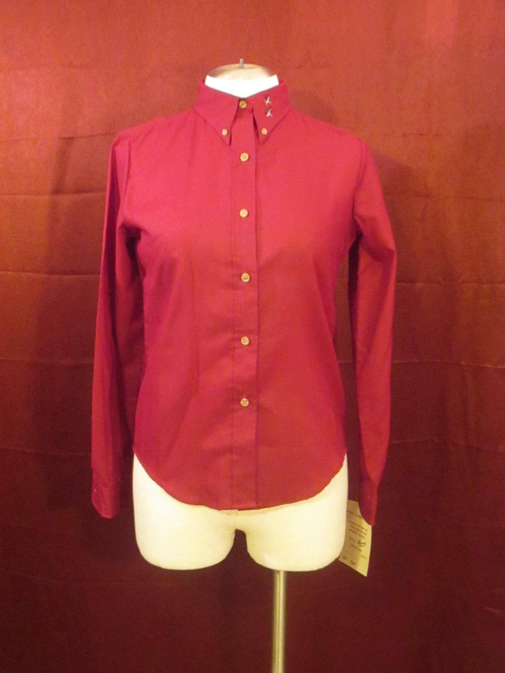6560f0723b1 Vintage Vtg Mandy womens shirt M 9 10 embroidered ducks button