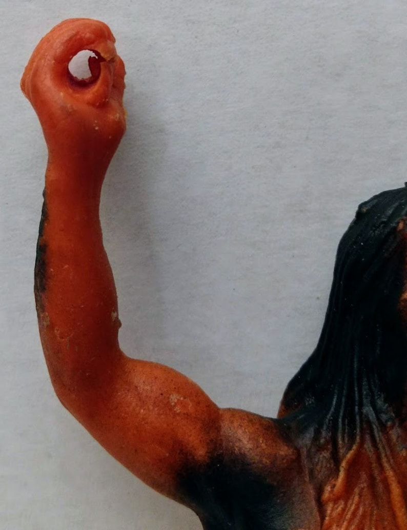 Vintage Vtg Rubber Caveman Jiggler Toy Figure Hong Kong Prehistoric Cave 60s Action 8