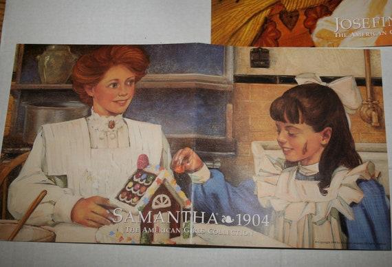 Vintage Vtg American Girl Poster Lot HTF 90s Sticker Molly Pleasant Company  Josephina Addy Kirsten Felicity Samantha