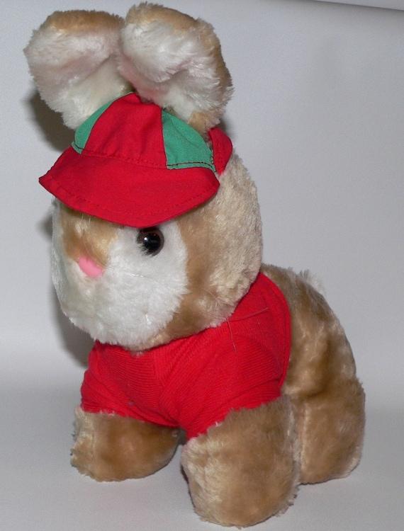 b47768896122e6 Vintage Vtg Interpur 80s Korea Bunny Rabbit Boy Plush Toy Hat