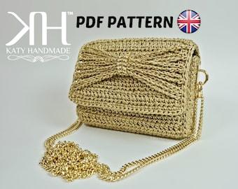 """PDF PATTERN [ENG] - Crochet clutch """"Preziosa"""""""