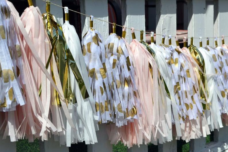 Unicorn pink white garland 92\u201d long