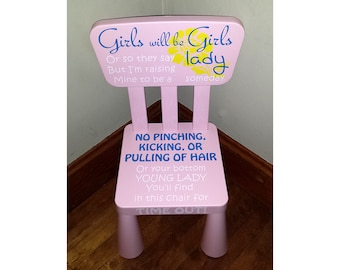 Girls Time Out Chair Etsy