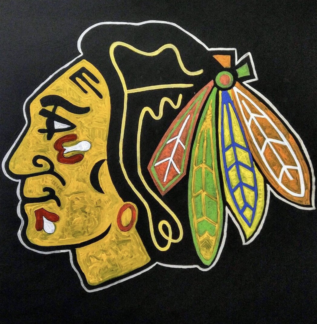 CUSTOM Sports Team Logo Painting by Matt Pecson Sports Decor | Etsy